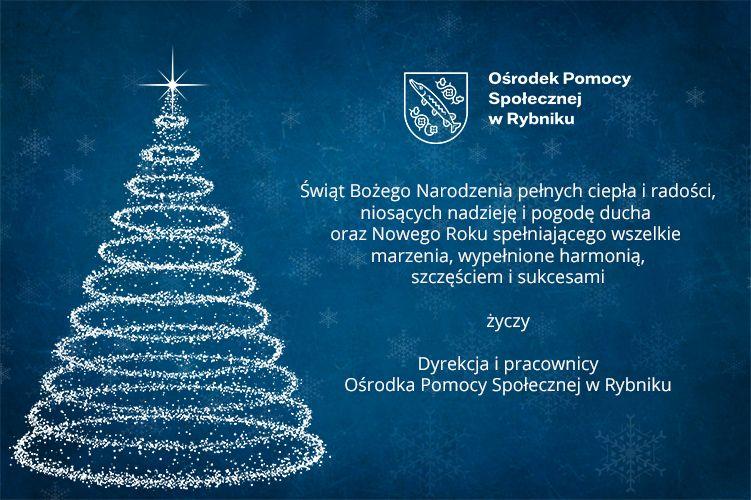 Kartka Świąteczna z życzeniami Dyrekcji i pracowników Ośrodka
